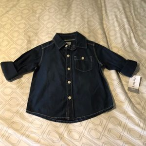 NWT button down denim shirt